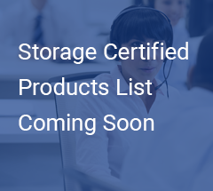 Storage Certified Products CTA
