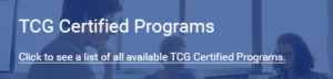 TCG Certification Program CTA